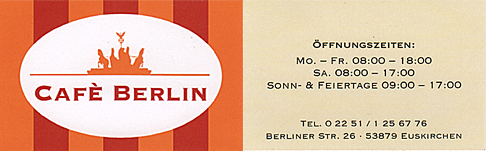 Café Berlin in Euskirchen